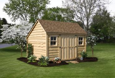 salt box 10x12 heritage pine siding