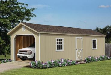 Aframe Single Car Garage Duratemp Siding-1