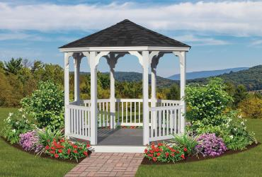 Vinyl Octagon Country Gazebo
