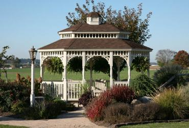 Vinyl Oval Gazebo- Victorian Double Roof-1