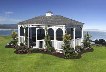 Vinyl Rectangle Gazebo- Classic Single Roof-3
