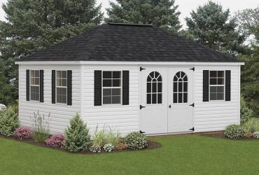 Hip Roof Style Vinyl Shed-Standard-2