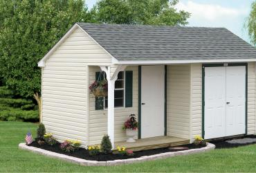 Quaker Vinyl Sided Shed-With Porch-1