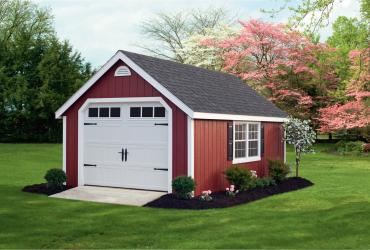 Garage with Duratemp T1-11 Siding