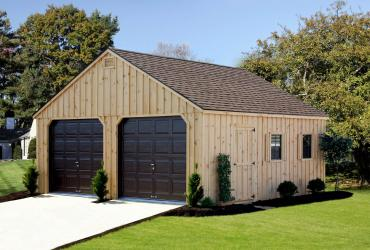 Aframe Modular Garage Board and Batten Pine-1