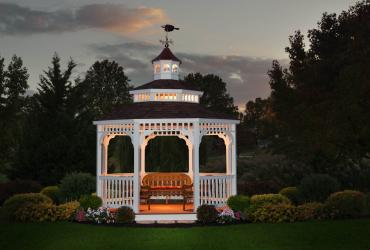 Vinyl Octagon Gazebo- Double Victorian Roof-3