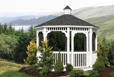 Vinyl Octagon Gazebo- Clssic Single Roof-7
