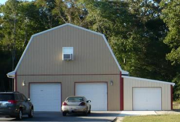 Two story garage Barn Style
