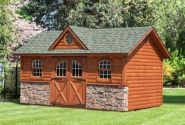 Manor Deluxe with Log and Stone Siding