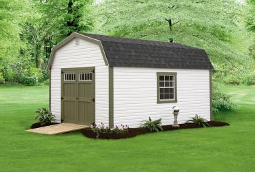 New England Classic: Barn Style Shed-Vinyl Siding