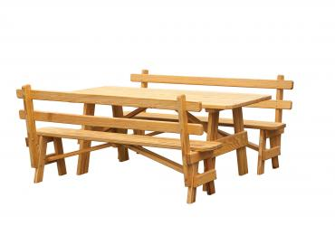 Regular Picnic Table (2 Benches with Backs)