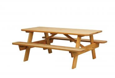 Regular Picnic Table (Benches Built-In)