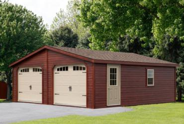 24x24 Double Wide Garage with Lap Siding