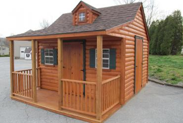 12 x 14 Log Cottage Playhouse
