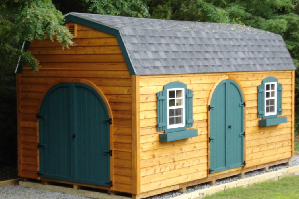 Dutch Barn Style Cedar Shiplap Shed