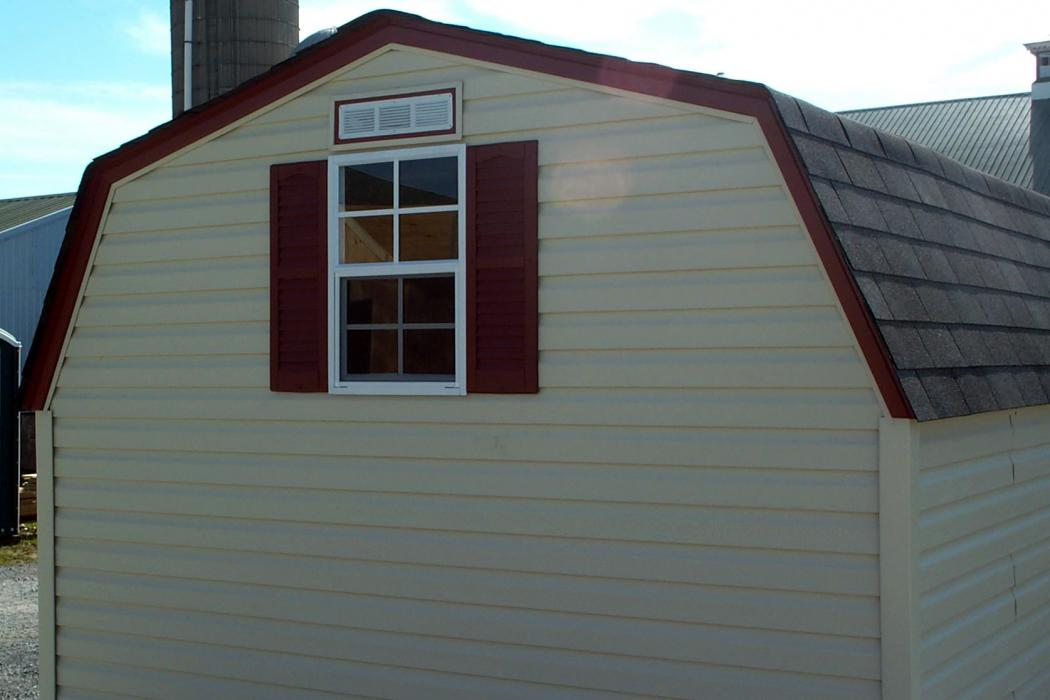 Mini Barn Vinyl Siding 3