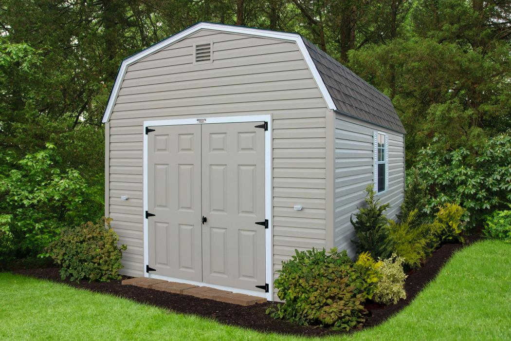 Standard Barn Style Vinyl Sided Shed
