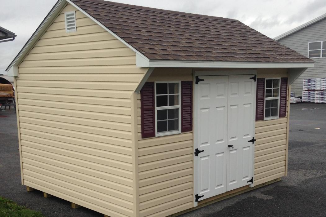 quaker vinyl shed-higher walls