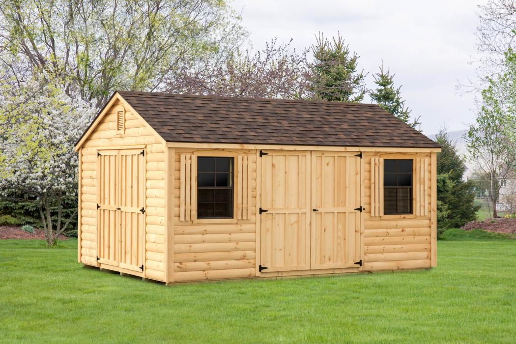 Log Sided Aframe Shed