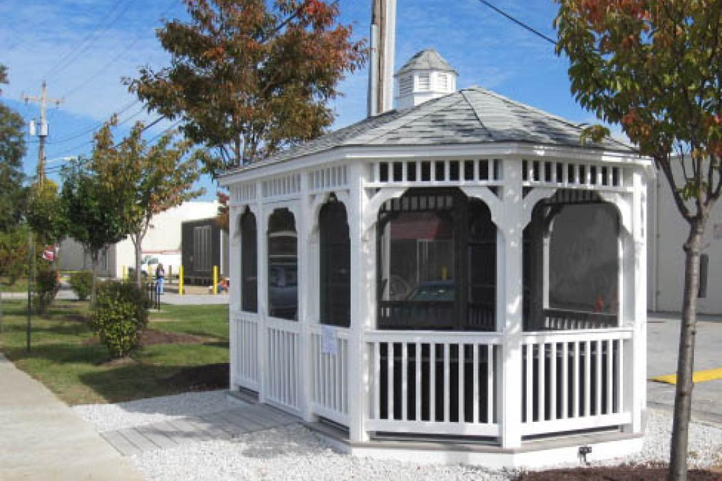 Vinyl Oval Gazebo- Classic Single Roof-6