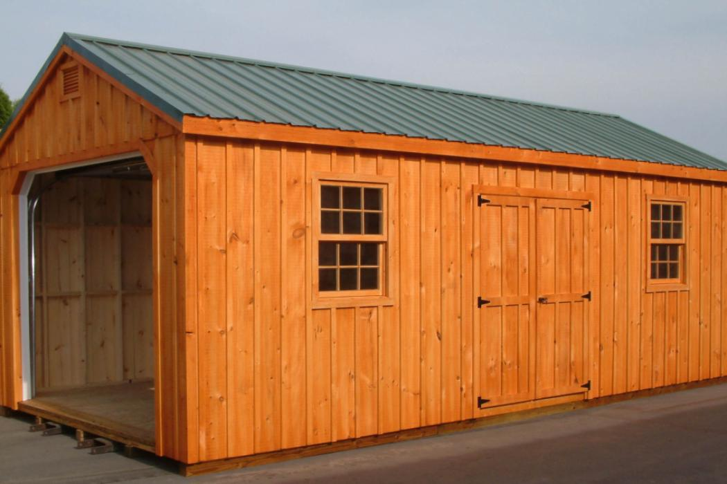 Aframe Single Car Garage Board and Batten Pine-8