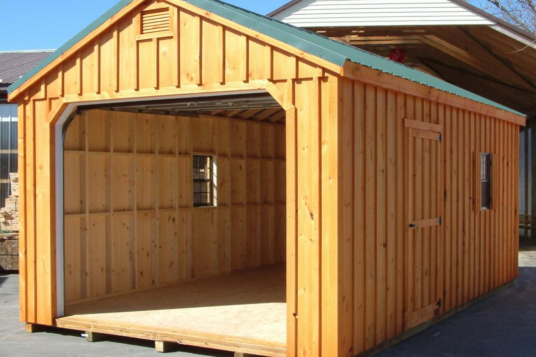 Aframe Single Car Garage Board and Batten Pine-5