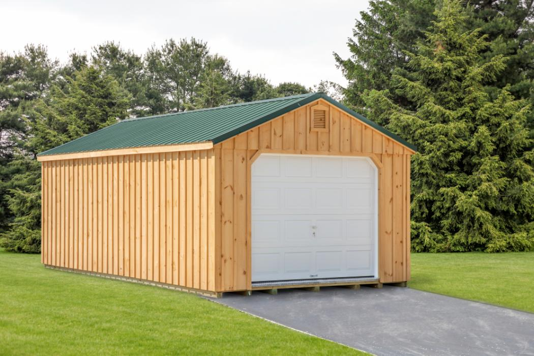 Aframe Single Car Garage Board and Batten Pine