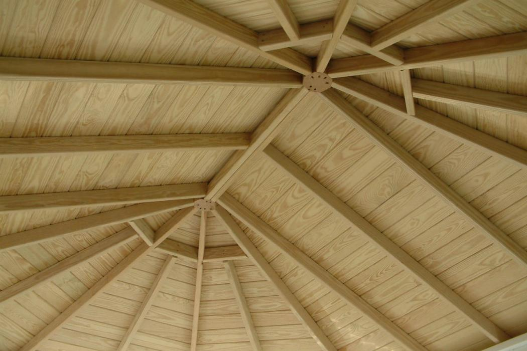 Vinyl Oval Gazebo- Classic Single Roof-9