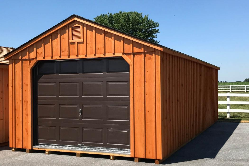 Aframe Single Car Garage Board and Batten Pine-3