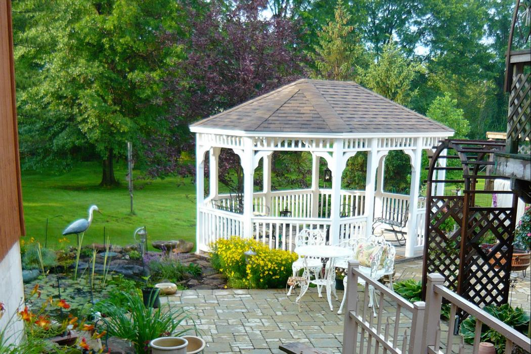 Vinyl Oval Gazebo- Classic Single Roof-11