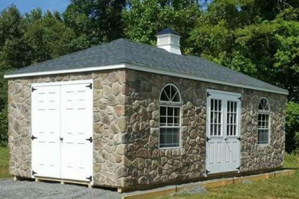 Historic Stone Cottage Hip Roof Shed Lancaster County Barns