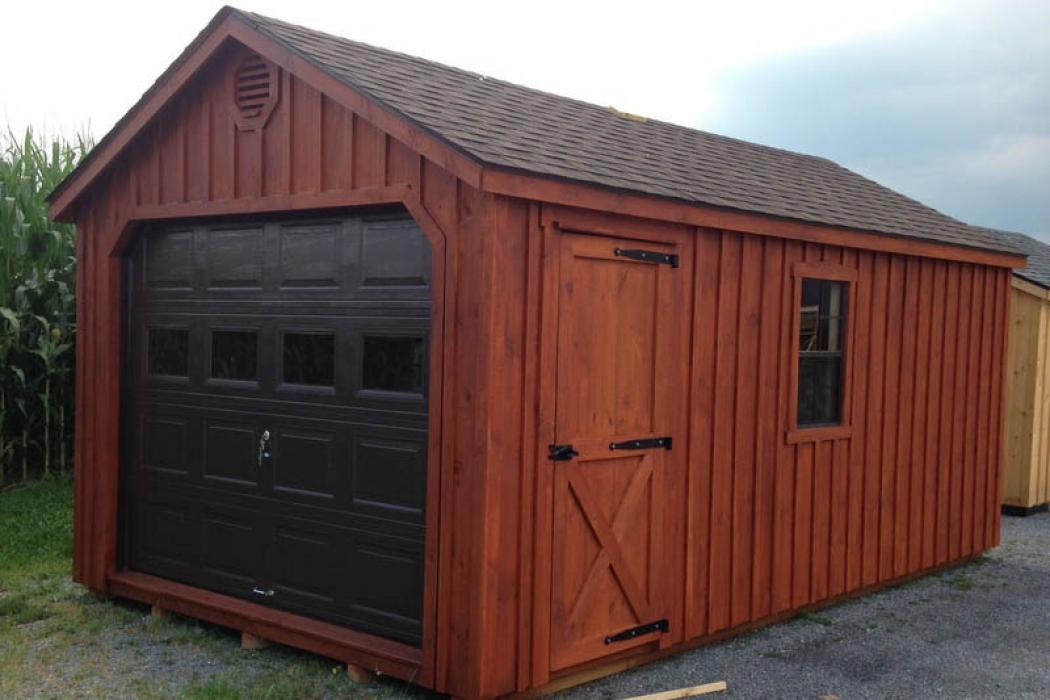 Aframe Single Car Garage Board and Batten Pine-7