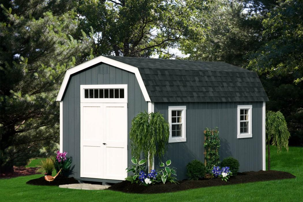 New England Classic: Barn Style Shed-Duratemp T1-11 Siding-1