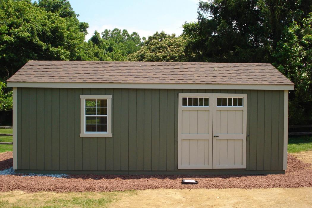 New England Classic Single Car Garage -Duratemp T1-11 Siding-2