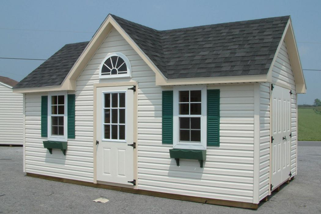 New England Classic Victorian Shed- Vinyl Siding-5