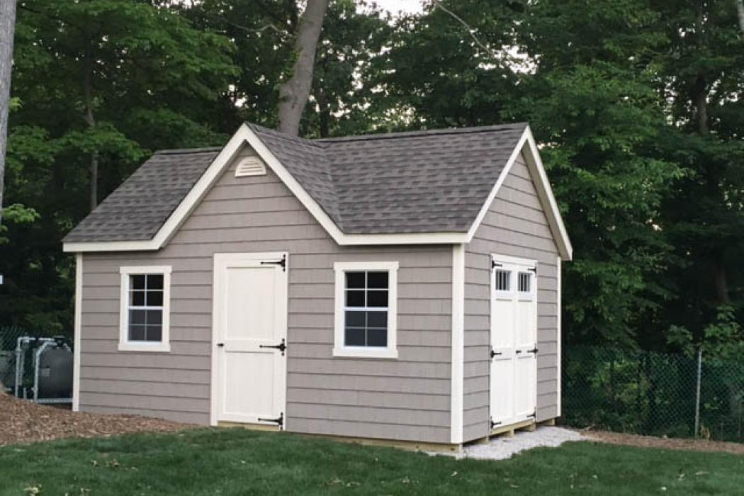 New England Classic 9/12 pitch with Dormer- Vinyl Siding -1