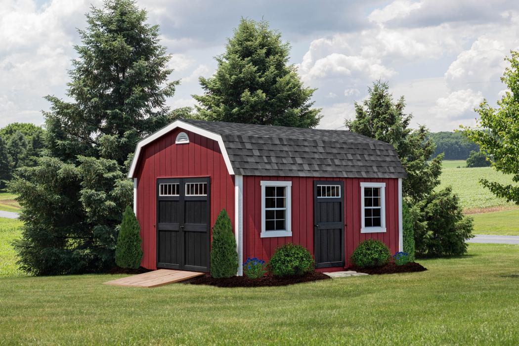 New England Classic: Barn Style Shed-Duratemp T1-11 Siding-2