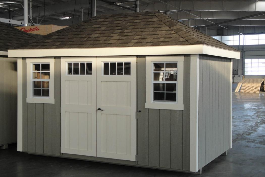 New England Classic Hip Roof Shed-Duratemp T1-11 Siding-2