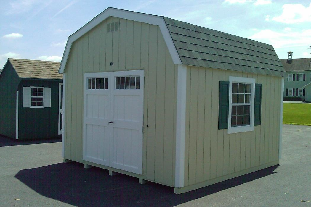 New England Classic: Barn Style Shed-Duratemp T1-11 Siding-3