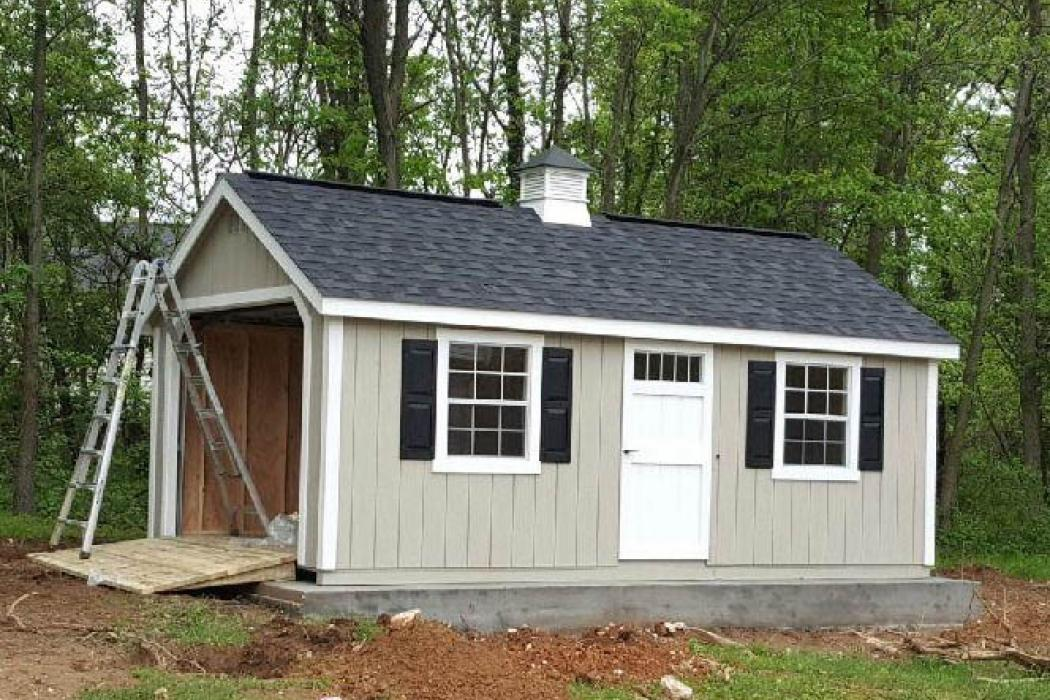 New England Classic Single Car Garage -Duratamp T1-11 Siding -6
