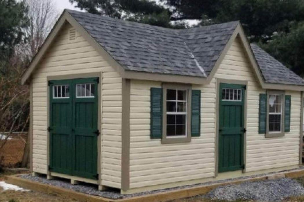New England Classic Victorian Shed- Vinyl Siding-1