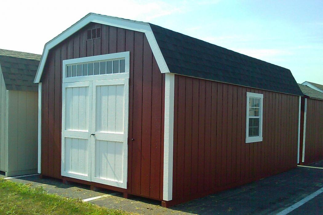 New England Classic: Barn Style Shed-Duratemp T1-11 Siding-4