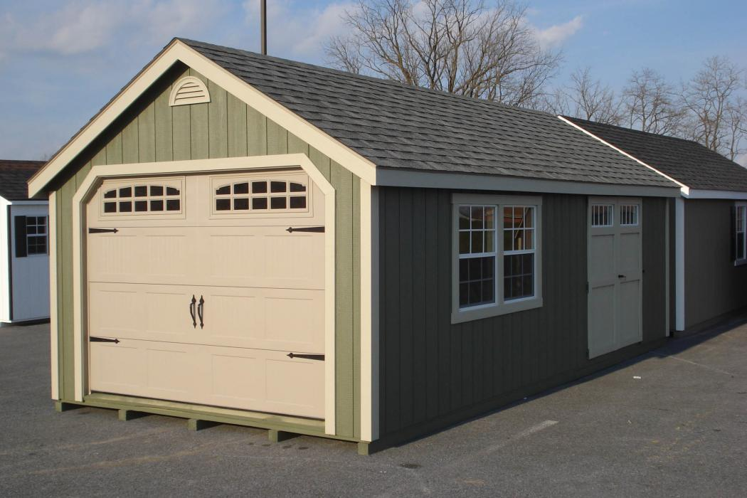 New England Classic Single Car Garage -Duratamp T1-11 Siding -10