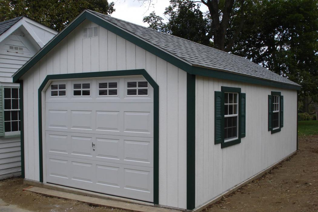 New England Classic Single Car Garage -Duratamp T1-11 Siding -11