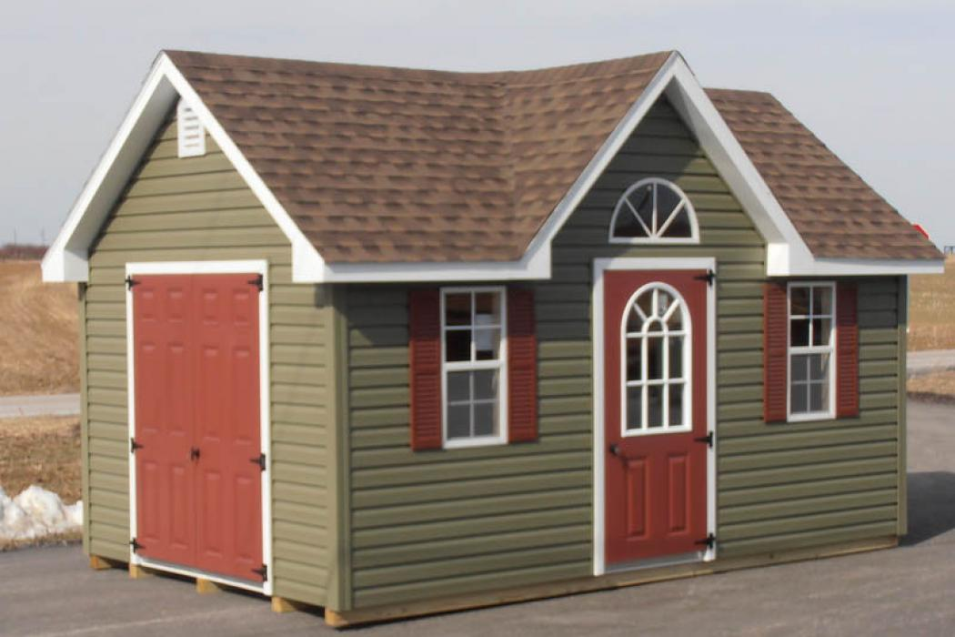 New England Classic Victorian Shed- Vinyl Siding-3