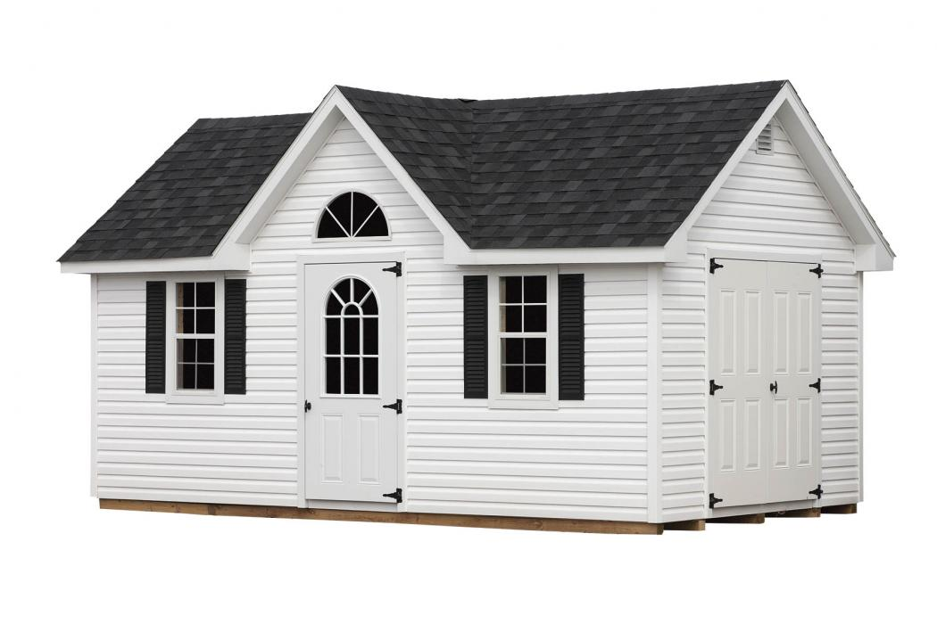 New England Classic Victorian Shed- Vinyl Siding-4