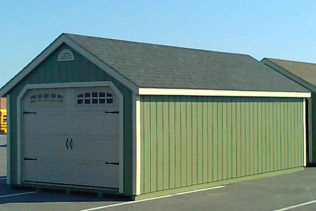 New England Classic Single Car Garage -Duratemp T1-11 Siding-3