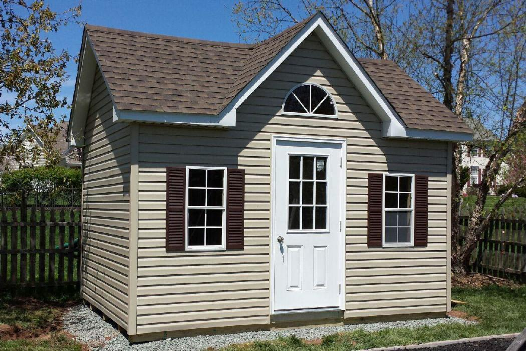 New England Classic Victorian Shed- Vinyl Siding-9