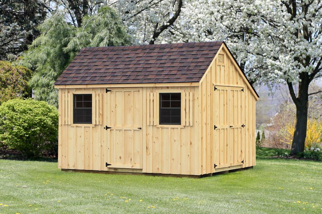 Salt Box with Board & Batten Siding