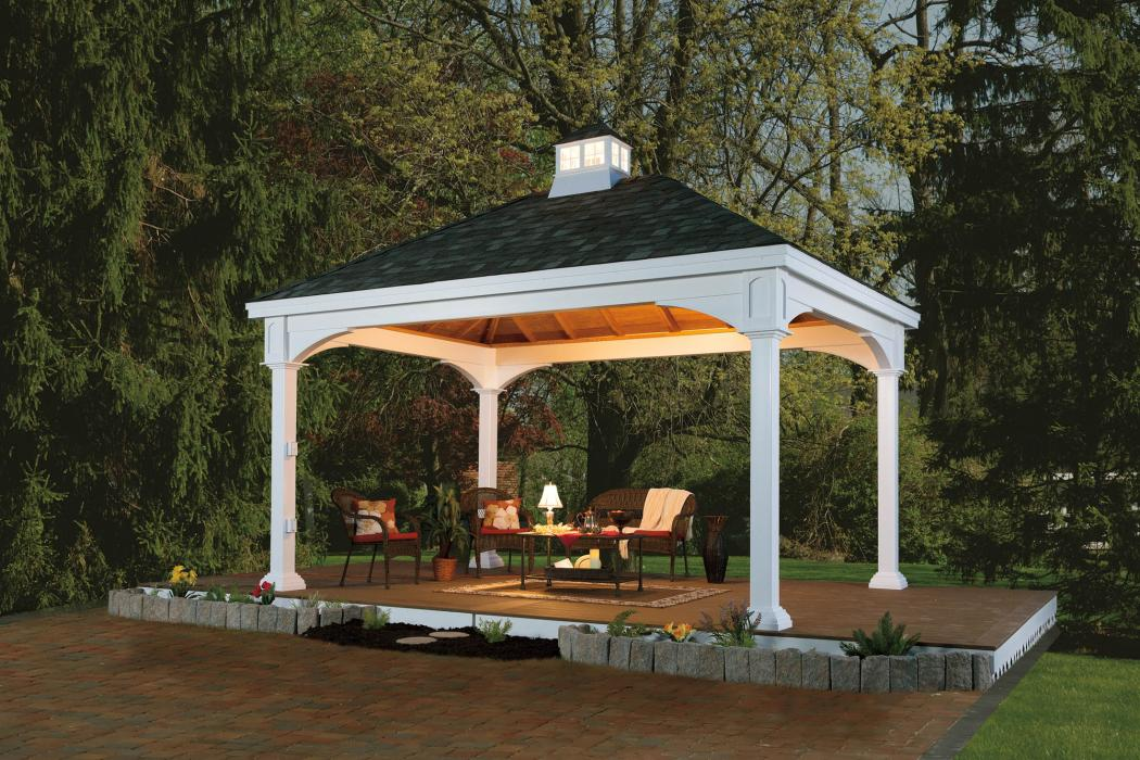Manor Vinyl Pavilion with Cathedral Roof-4